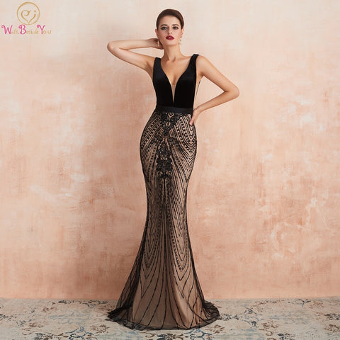 Black Evening Dresses Dubai Abendkleider Lang Prom