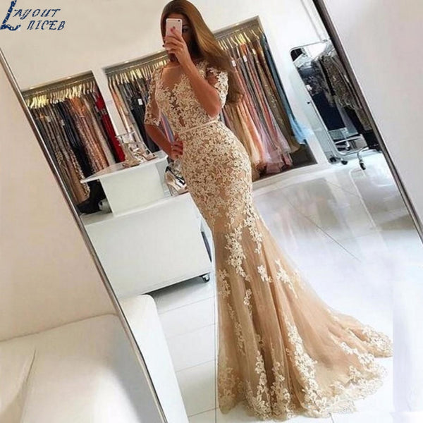 Custom Made Long Dress Mermaid Evening Dress
