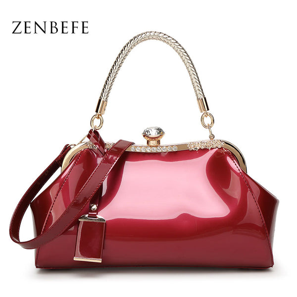 ZENBEFE Patent Leather Women Handbags