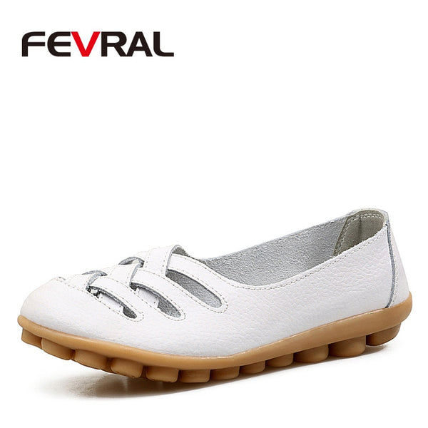 FEVRAL Cow Leather Flat