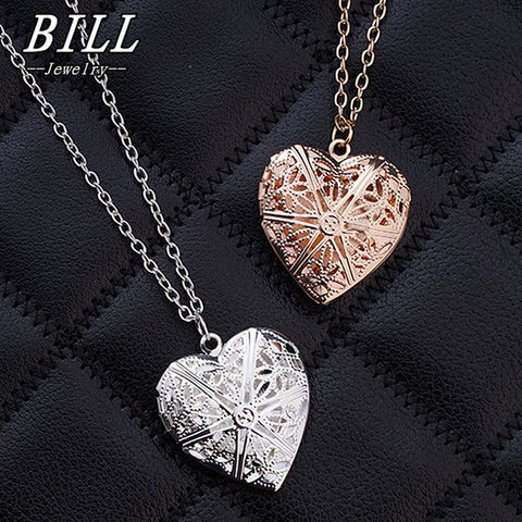 Hollow Heart Pendant Necklaces
