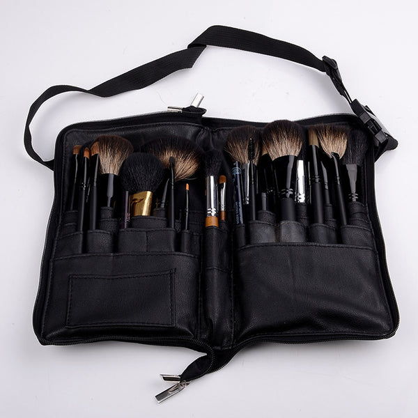 Black 32 Pockets Makeup Brush Holder Case