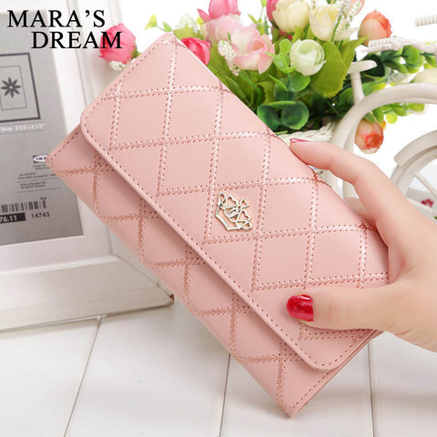 Mara's Dream™ Plaid PU Leather Long Wallet