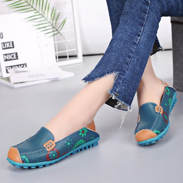 Slip On Ballet Flats Printing Shoes
