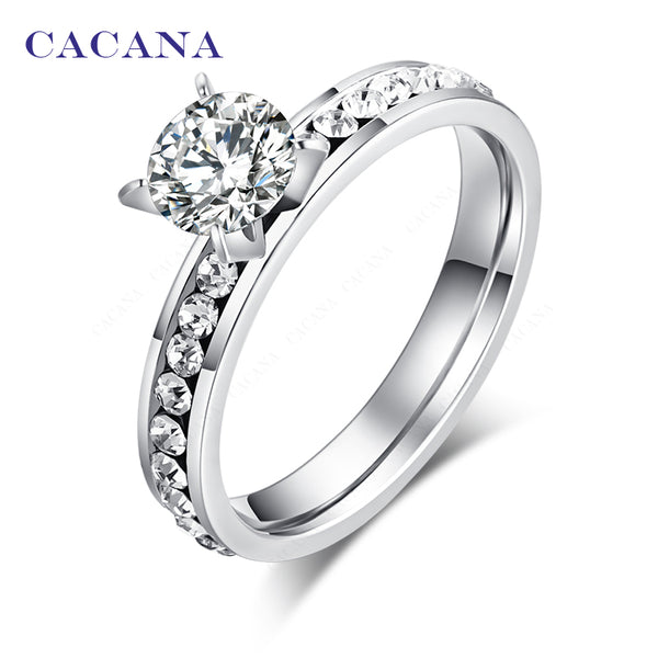 CACANA Stainless Steel Rings