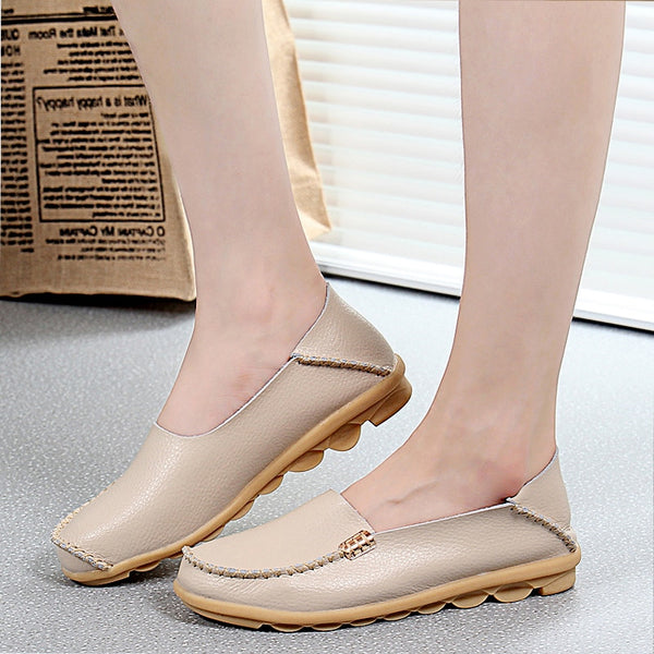 Flats Genuine Leather Casual Loafers