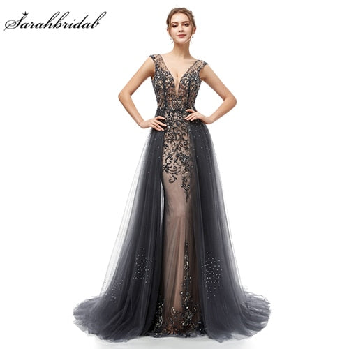 Elegant Evening Tulle Floor Length Prom Party Dresses