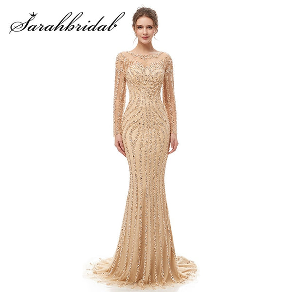 Intricate Long Sleeves Evening Dress