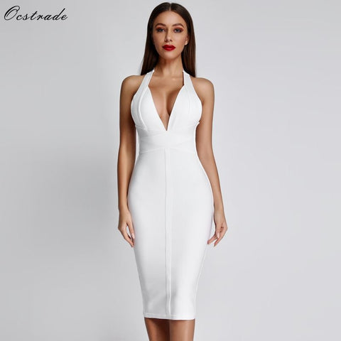 Ocstrade White Bandage Dresses