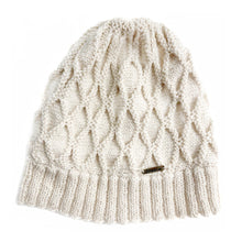 Load image into Gallery viewer, Women Beige Triangle Baby Alpaca Hat