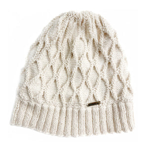 Women Beige Triangle Baby Alpaca Hat