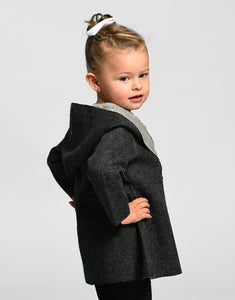 Girl Sofilu Baby Alpaca Reversible Cape