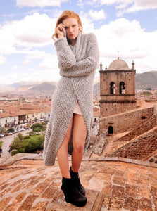 Women Kate Alpaca Long Cardigan