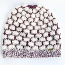 Load image into Gallery viewer, Women Cloud White-Purple Baby Alpaca Hat