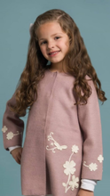 Load image into Gallery viewer, Girl Sammy Flower Baby Alpaca Coat
