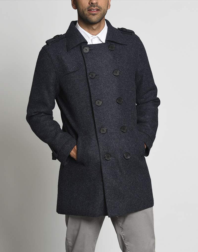 Men Kurt Baby Alpaca Coat