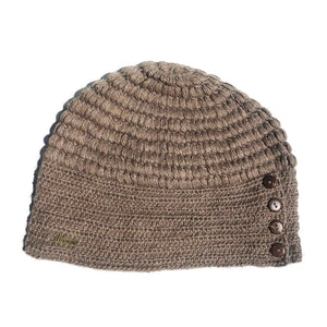 Women Brown Rice Baby Alpaca Hat
