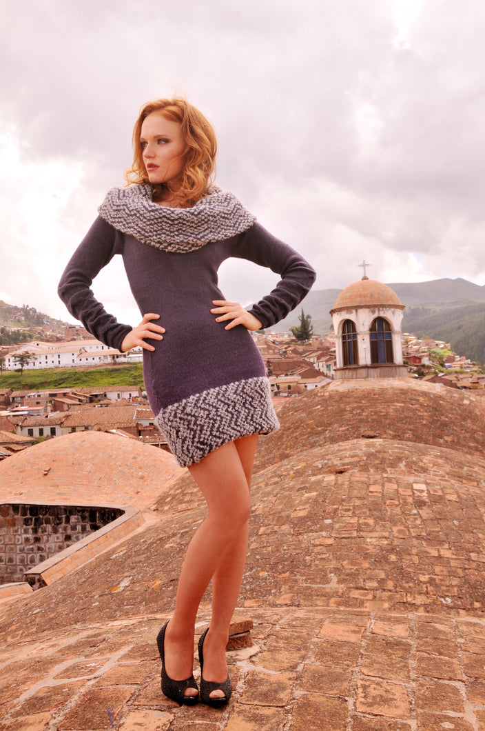 Women Andean Alpaca Sweater Dress