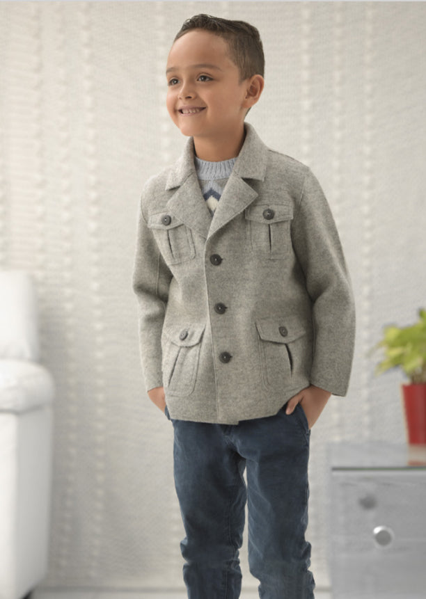 Boy Aviador Baby Alpaca Coat