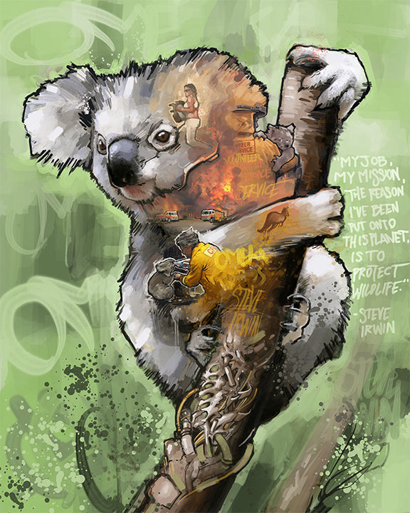 Koala Bear Stretched Canvas Print - PROTECT WILDLIFE FUNDRAISER