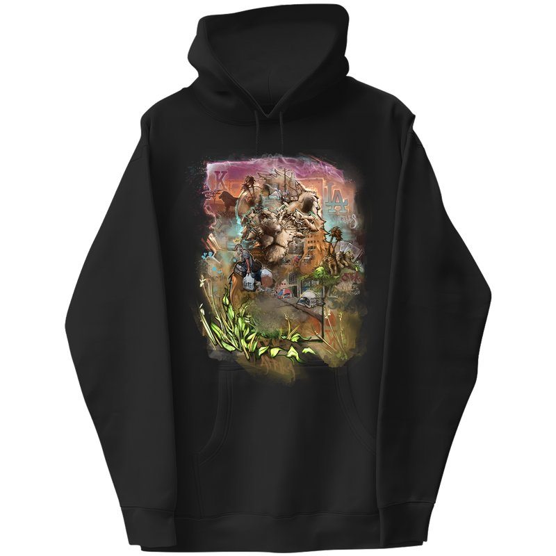 LA Lion Graphic Hoodie - HOMELESS PREVENTION FUNDRASIER