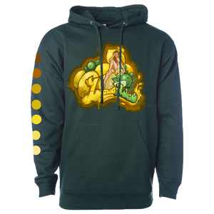 Lemon Lime Graphic Hoodie - Forest Green