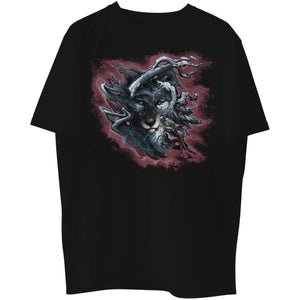 Shadow Wolf Red Graphic Tee