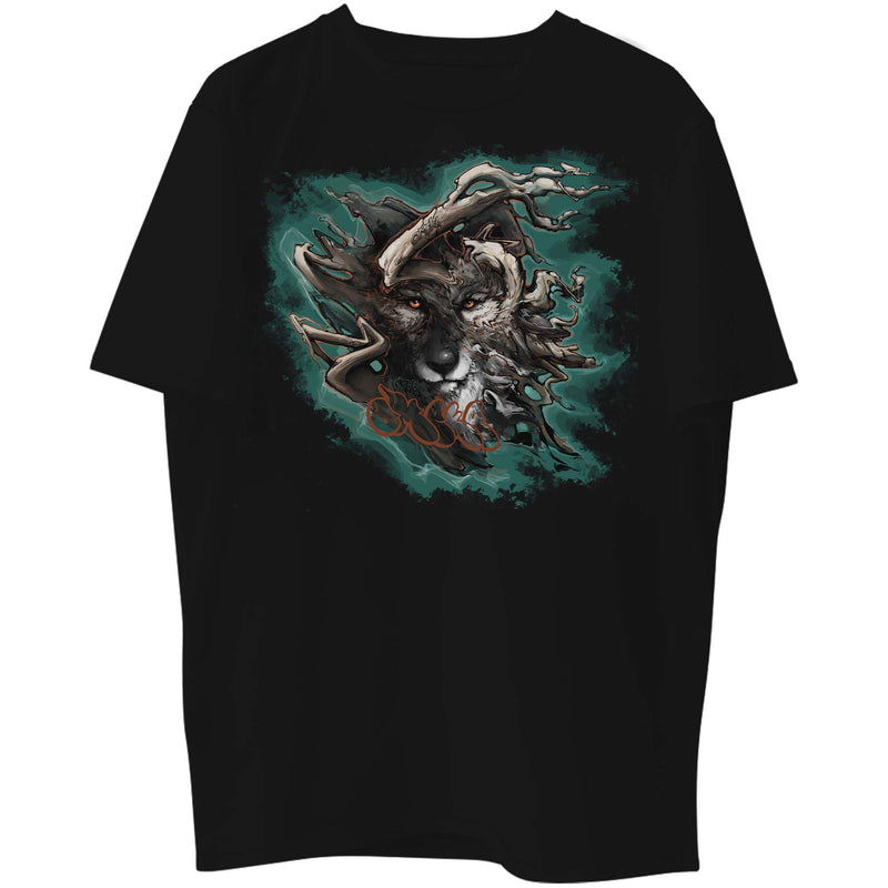 Shadow Wolf Teal Graphic Tee