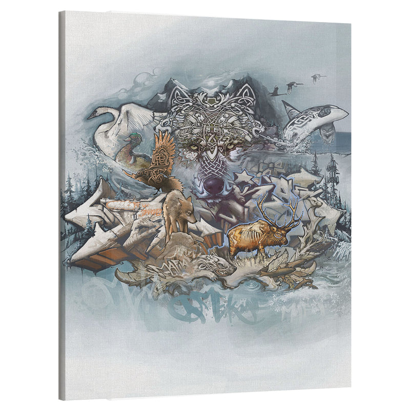 Winter Wolf Canvas Print