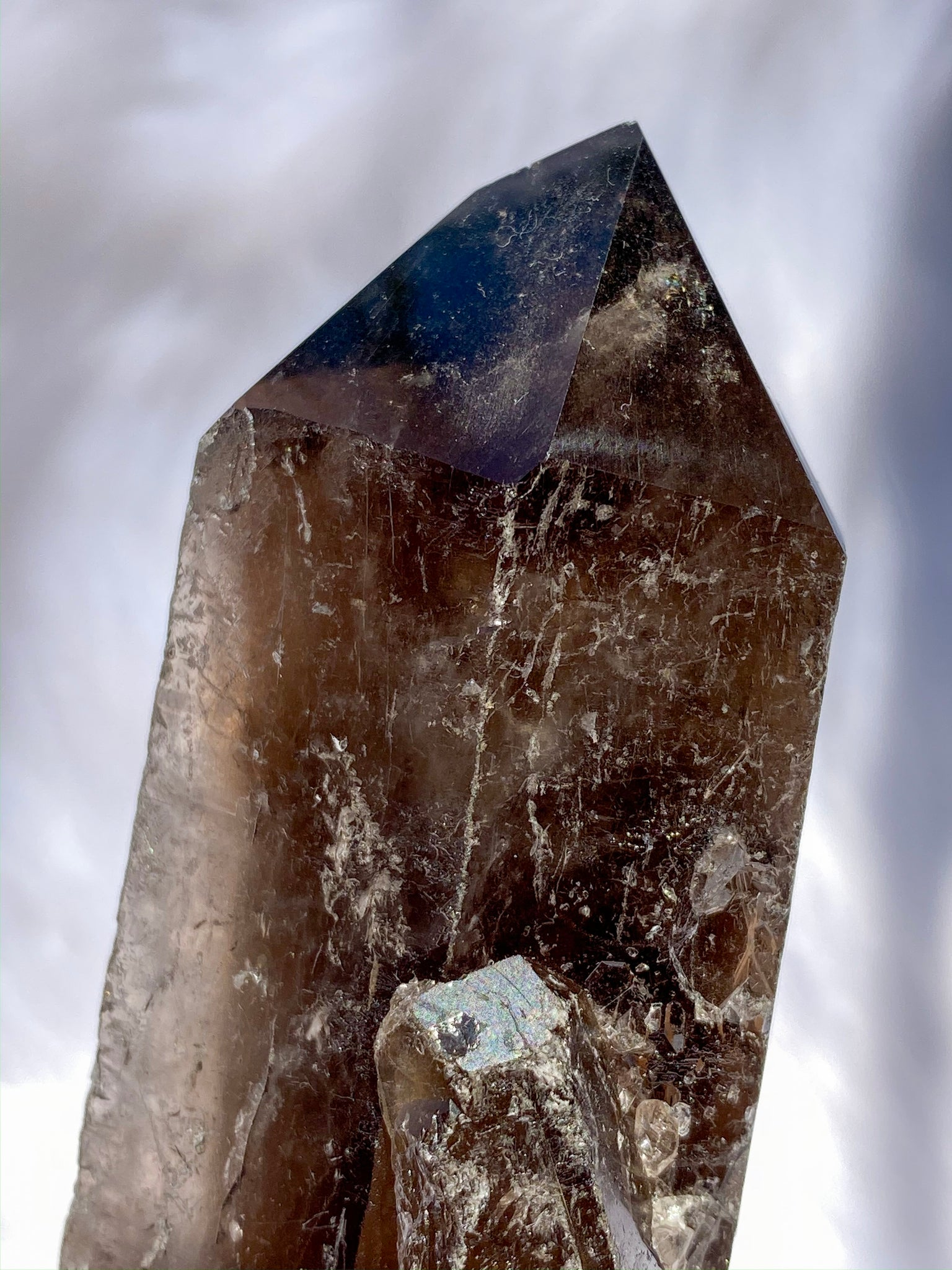 Smoky Quartz Natural Point Elestial Q1A 289gm