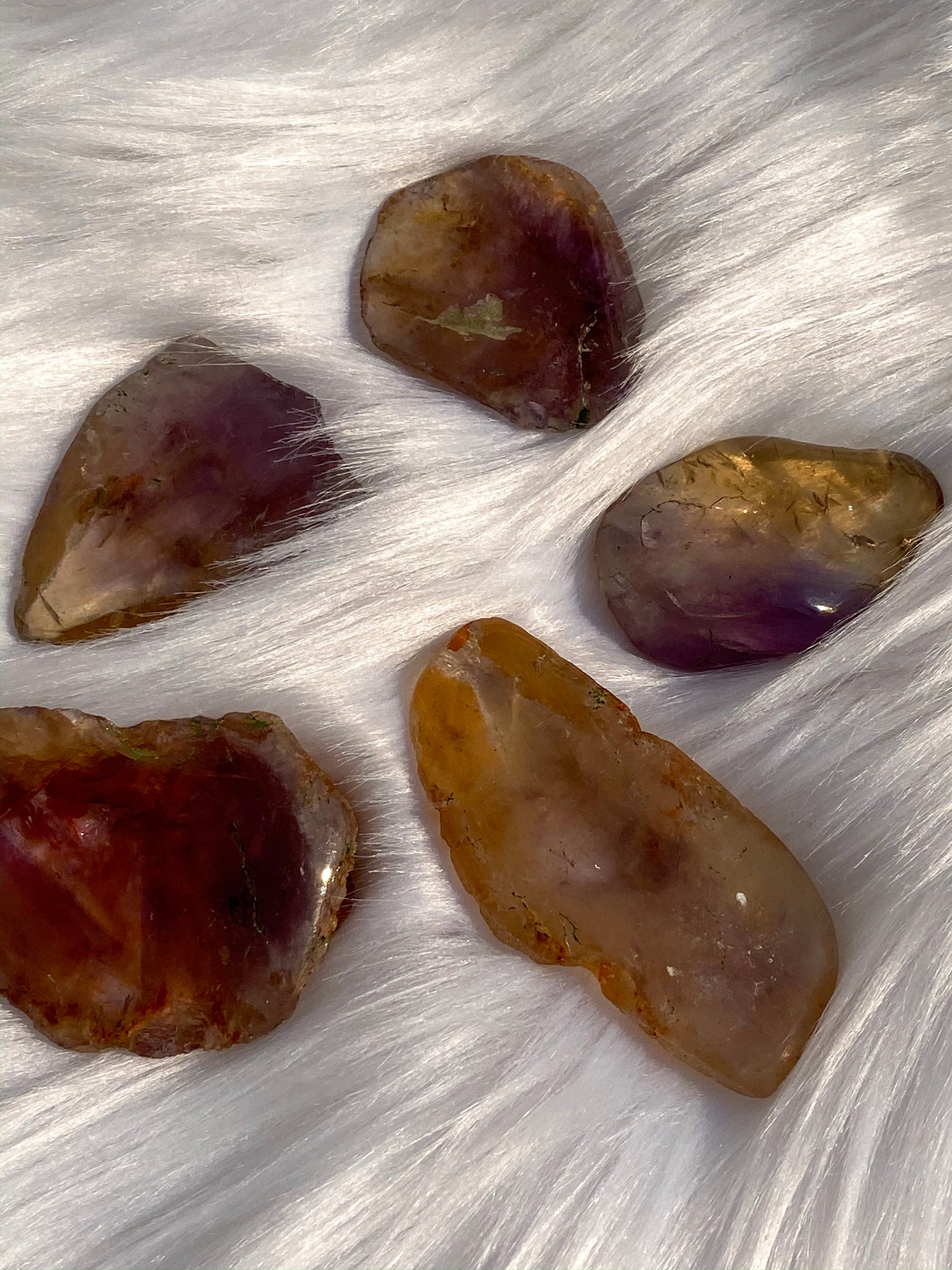 Ametrine One Face Polished (5 pieces pack) 103gm