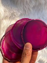Load image into Gallery viewer, Agate Pink Pack Coaster 4 Pieces
