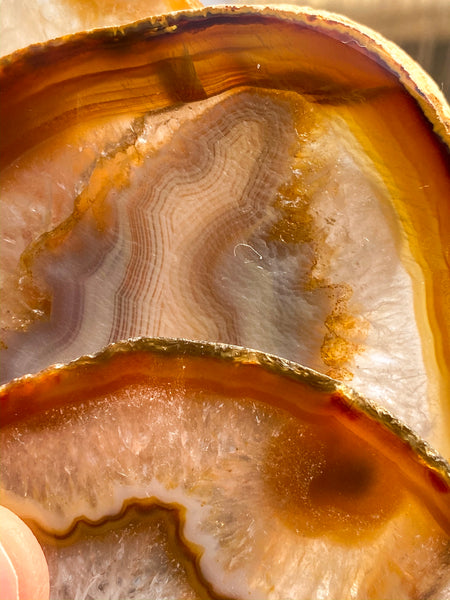 Agate Brown Pack Coaster 4 Pieces