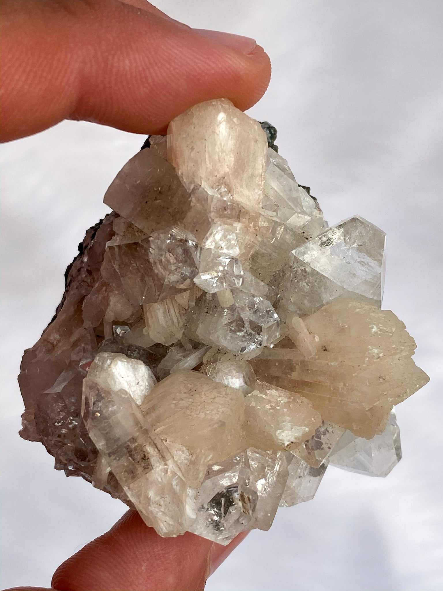 Apophyllite Glass Stilbite Cluster 135gm