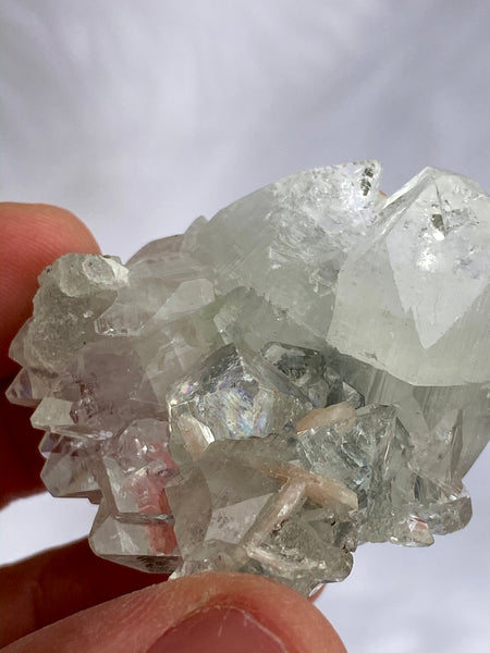 Apophyllite Glass Stilbite Druzy Cluster 55gm