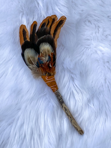 Ceremonial Feather Fan Driftwood