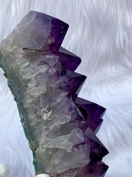 Amethyst Cluster Large Points 1262g