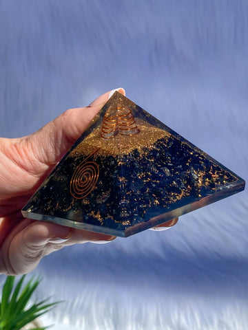 Orgonite Pyramid Black Tourmaline 230g