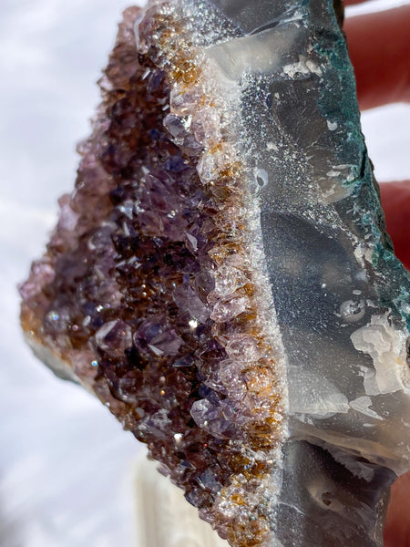 Amethyst Cluster with Cacoxenite 267g