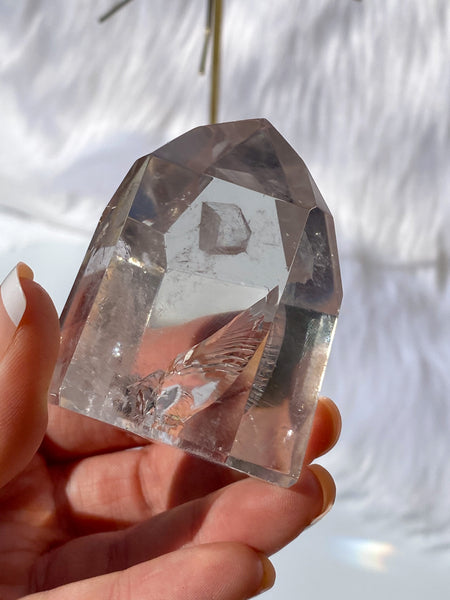 Clear Quartz Polished Manifestation Generator 147g