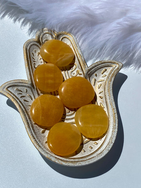 Orange Calcite Worry Stone