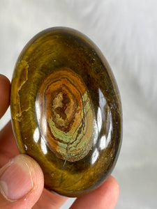 Tiger Eye Lingham Egg with Heart 203g