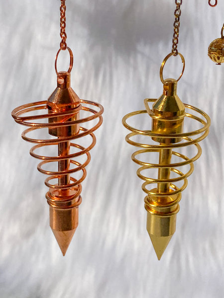 Vortex Pendulum Gold Plated