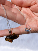 Load image into Gallery viewer, Elephant Tiger Eye Mini Pendant