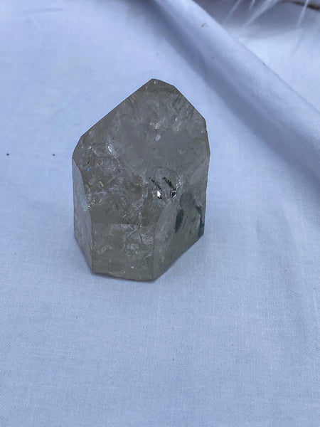 Fire and Ice Polished Point with Chlorite 66g