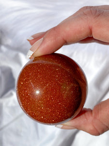Gold Stone Sphere 213g