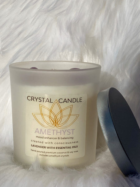 Amethyst Candle - Mood Enhancer and Balancing