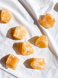 Orange Calcite Natural | Medium