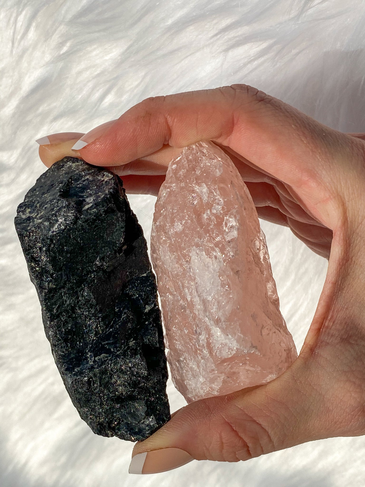 Rose Quartz and Black Tourmaline House Protection 126g/142g