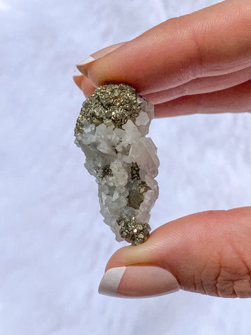 Clear Quartz and Pyrite Cluster 19g
